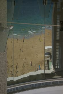 Beach view from Tate St Ives