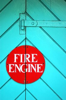 signs symbols/fire engine